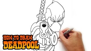 How To Draw Deadpool Step By Step Lesson