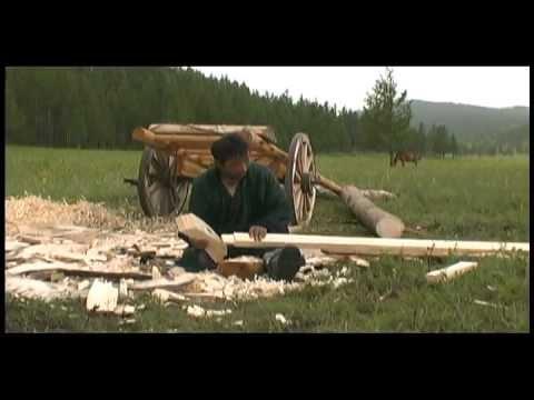 Mongolian Yurt Building: The Column (higher quality)