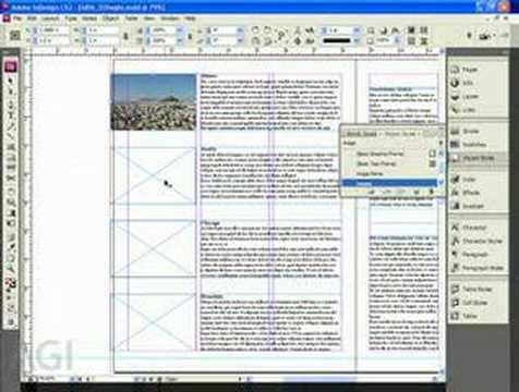 Learn InDesign: InDesign Training CS3 Using Graphics