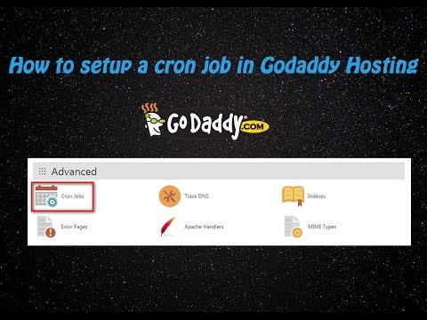 How to setup a cron job in Godaddy Hosting
