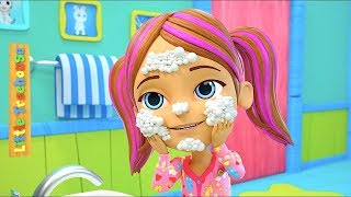 Here We Go Round The Mulberry Bush   Kids Nursery Rhymes Songs   Cartoons by Little Treehouse
