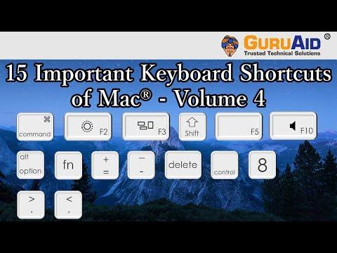 15 Important Keyboard Shortcuts of Mac® OS X™ Volume 4 - GuruAid