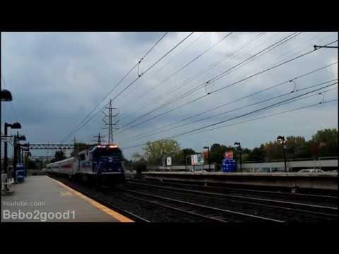 Metro-North, Amtrak & SLE: PM Peak Trains in Noroton Heights, CT RR
