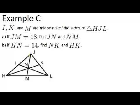 Medians: Examples (Geometry Concepts)