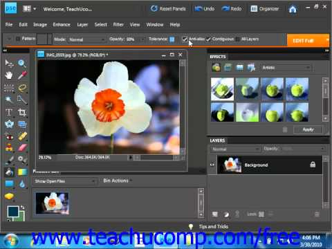 Photoshop Elements 9.0 Tutorial Using the Paint Bucket Tool Adobe Training Lesson 9.2