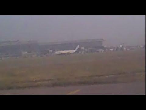 Saudi Arabian Airlines B777-200ER landing at Hyderabad