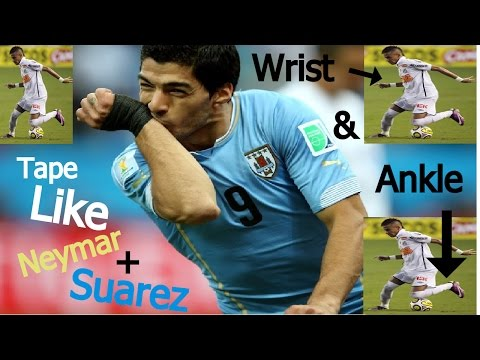 How to tape wrist + ankle for soccer like Neymar and Suarez