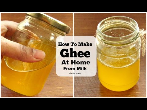 Ghee : How To Make Ghee At Home From Milk Cream - Clarified Butter - The Traditional Ayurvedic Way