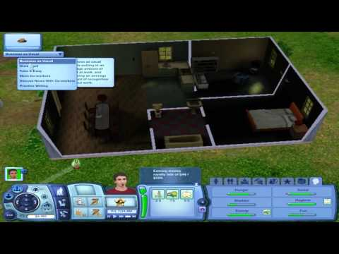 Let's Play The Sims 3 #5 Writing Books