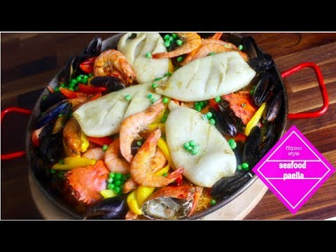 How to Make Filipino Style Seafood Paella with Crab Roe