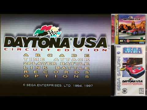Daytona USA Championship Circuit Edition Menu Music Soundtrack [real hardware]