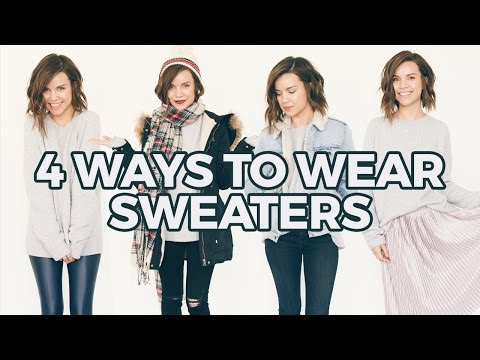 How I Style Oversized Sweaters! Winter Fashion | Ingrid Nilsen