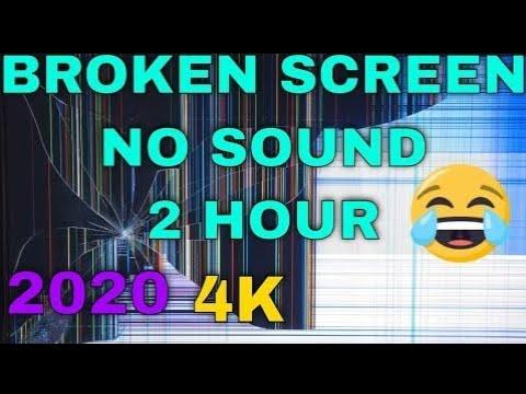 Broken Screen Monitor TV Frozen Prank Effect Cracked