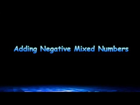 Adding Two Negative Mixed Numbers