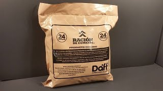 2017 Chilean 24 Hour Combat Ration MRE Review Meal Ready to Eat Taste Test