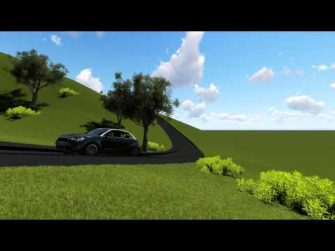 Lumion render test - Moving car on terrain