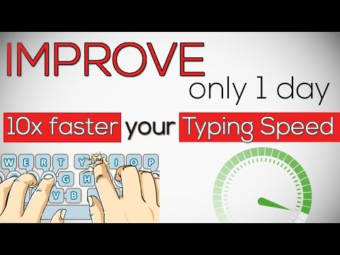 Increase Your Typing Speed For Online Jobs ! 10x faster Your Typing Speed Only 1 Day |