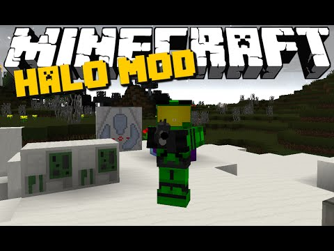 Minecraft: HALO MOD (Guns, Energy Swords, Covenant Mobs & More) Mod Showcase
