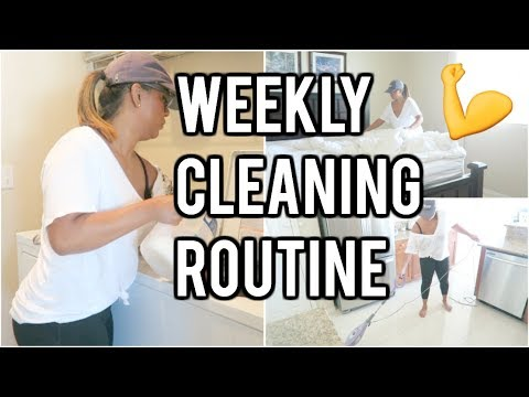 WEEKLY CLEANING ROUTINE | CLEAN WITH ME | SPEED CLEANING