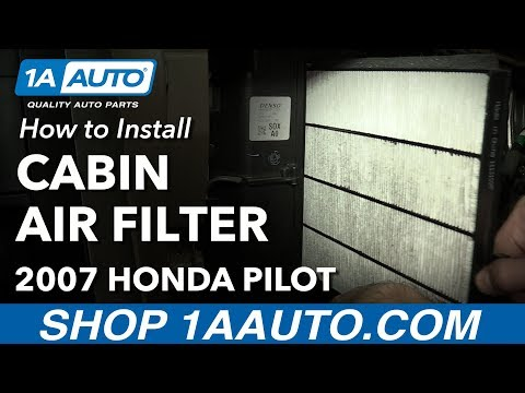 How to Install Replace Cabin Air Filter 2003-08 Honda Pilot