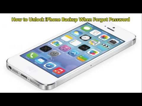 How to Unlock iPhone Backup When Forgot Password
