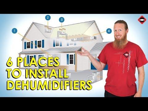 Dehumidifier Install in Home | DIY Humidity Control with Dehumidifier  | How to Control Humidity