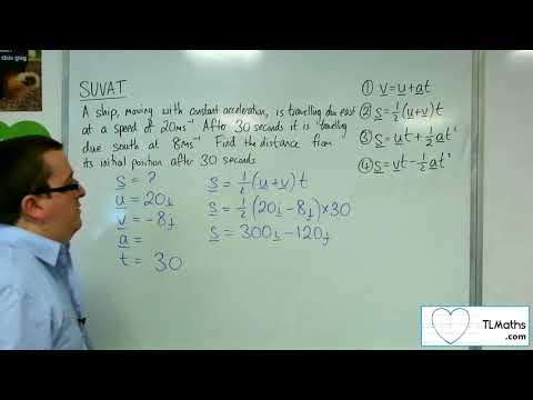 A-Level Maths 2017 Q3-14 SUVAT: 2D Example 1