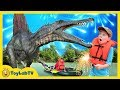 Giant Life Size Spinosaurus Dinosaur Jurassic Adventure Fun Family Fireworks Outdoor Celebration