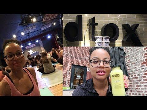 Hip Hop Yoga + Dtox Bar | Atlanta Vlog
