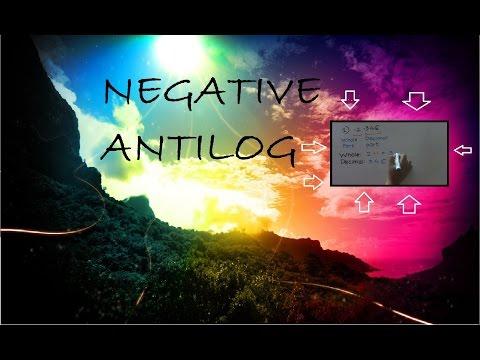 Negative Antilog