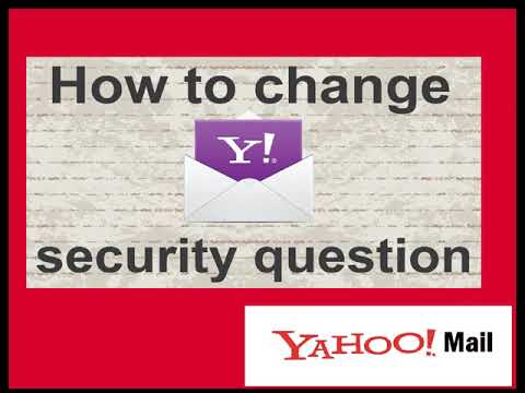 What are the steps to change security questions in Yahoo Mail?