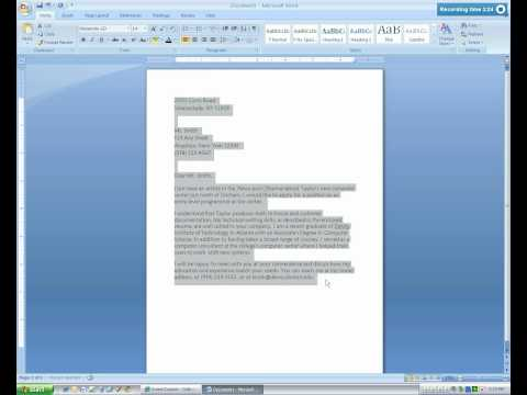 Microsoft Word  2007 Business Letter Tutorial.mp4