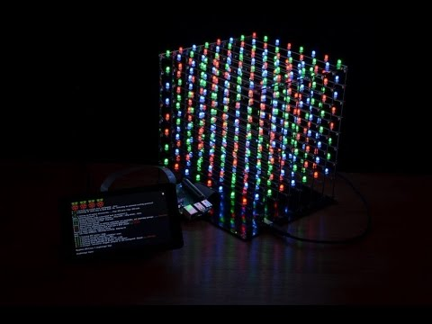 Raspberry Pi controlling a LED cube with Python