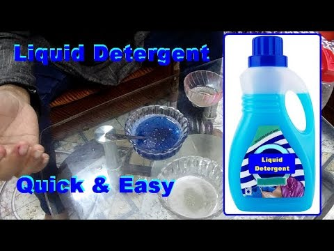 Liquid Detergent Making Quick and Easy Way. How to make Liquid Detergent.
