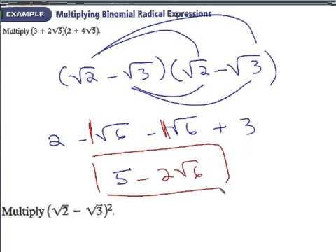 7.3 Adding and subtracting radicals