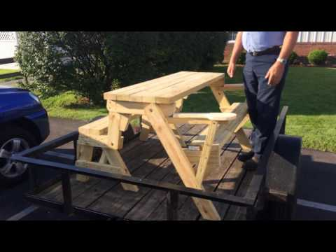 Convertible folding picnic table/bench (Plans Available)