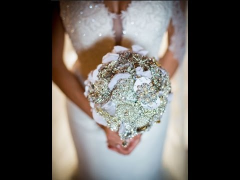 How We Made My Bridal Bouquet with Brooches | Brooch Wedding Bouquet Tutorial