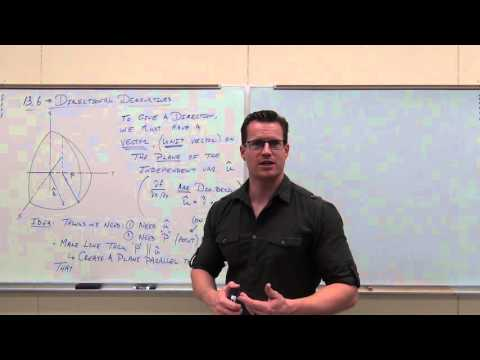 Calculus 3 Lecture 13.6:  Finding Directional Derivatives and Gradients