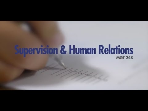 Your Class in 60 Seconds: Supervision & Human Relations
