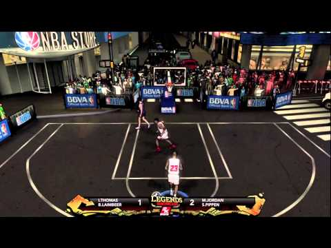 NBA 2k12 Legends Showcase Bulls vs Pistons Ft. Michael Jordan 2v2 Match