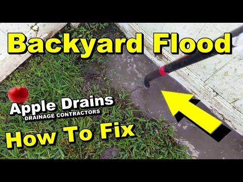 Backyard Flood Needs French Drain, DIY for Homeowners