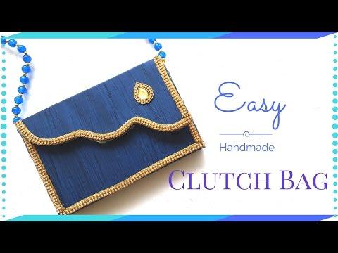 DIY Clutch Bag Tutorial - New Cardboard Clutch Bag Step By Step Video  - Ideas By Maya Kalista!