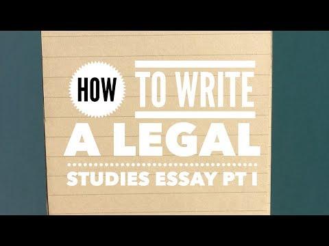 11 Legal Studies   How to write essay Pt I