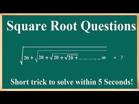 Square Root Questions Solving Trick for IBPS SSC Exams - IN 5 SECONDS!