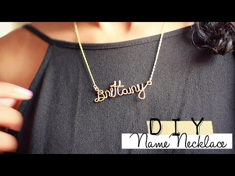 ♡♡How to: Wire Name Necklace♡♡
