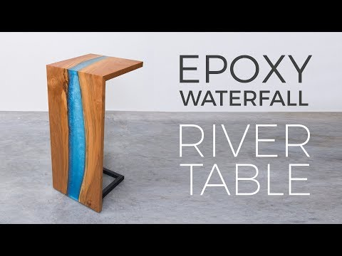 Floating Epoxy Waterfall River Table | Woodworking How to Build