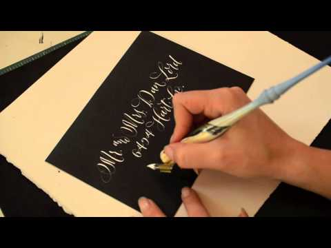 Calligraphy in Action |  Envelope Addressing, Black & White