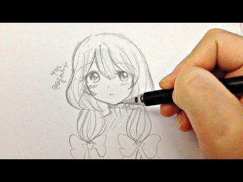 Draw a Manga Girl (real time drawing)