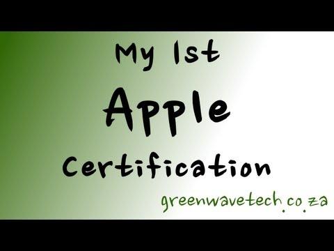 My 1st Apple Certification