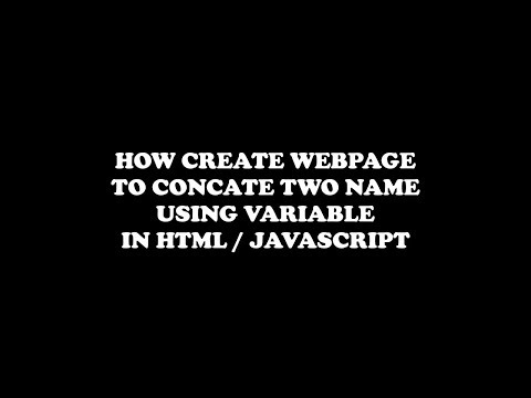 concat two string using HTML/JavaScript